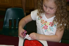 Preschool Art - Cutting with Scissors