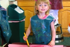 Preschool Art - Painting Bday Crown