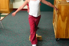 Preschool Physical fitness - balance beam
