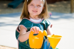 Preschool Outdoor Play -water table