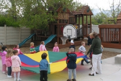 Preschool Outdoor Play- playground-pararchute