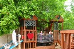 Preschool Outdoor Play- playground treehouse