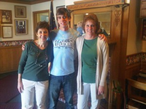 May 2010- Kathleen, Cody and Miss Jeri Rigler. Jeri was Cody's preschool teacher in 1994 and she is still teaching in 2010.
