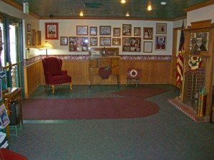 The entry foyer of the school was designed to be welcoming and warm to young children.