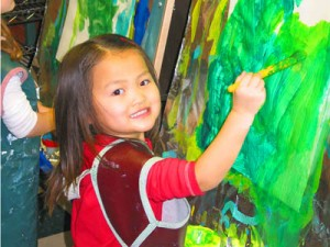 Newcastle teachers are trained to teach preschoolers how to participate in creative art activities.