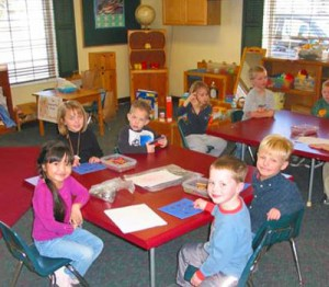 Newcastle teachers are trained to conduct hundreds of age-appropriate learning centers for preschoolers.