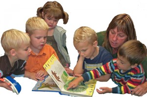 Newcastle Preschool provides age-appropriate pre-reading instruction.