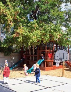 Newcastle School has unique outdoor playground and preschool students run, jump and climb every day.